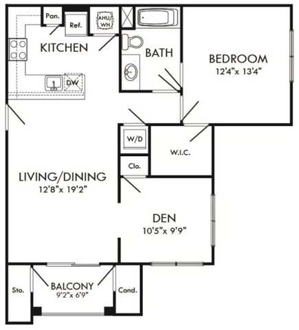 floor plan for 8400 Rosebay Lane, #414