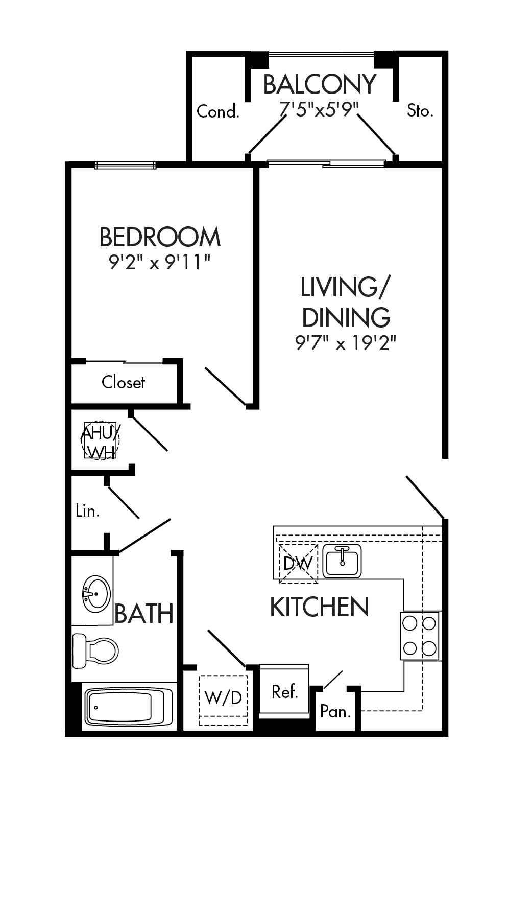 floor plan for 1711 Wisteria Pond Way, #413