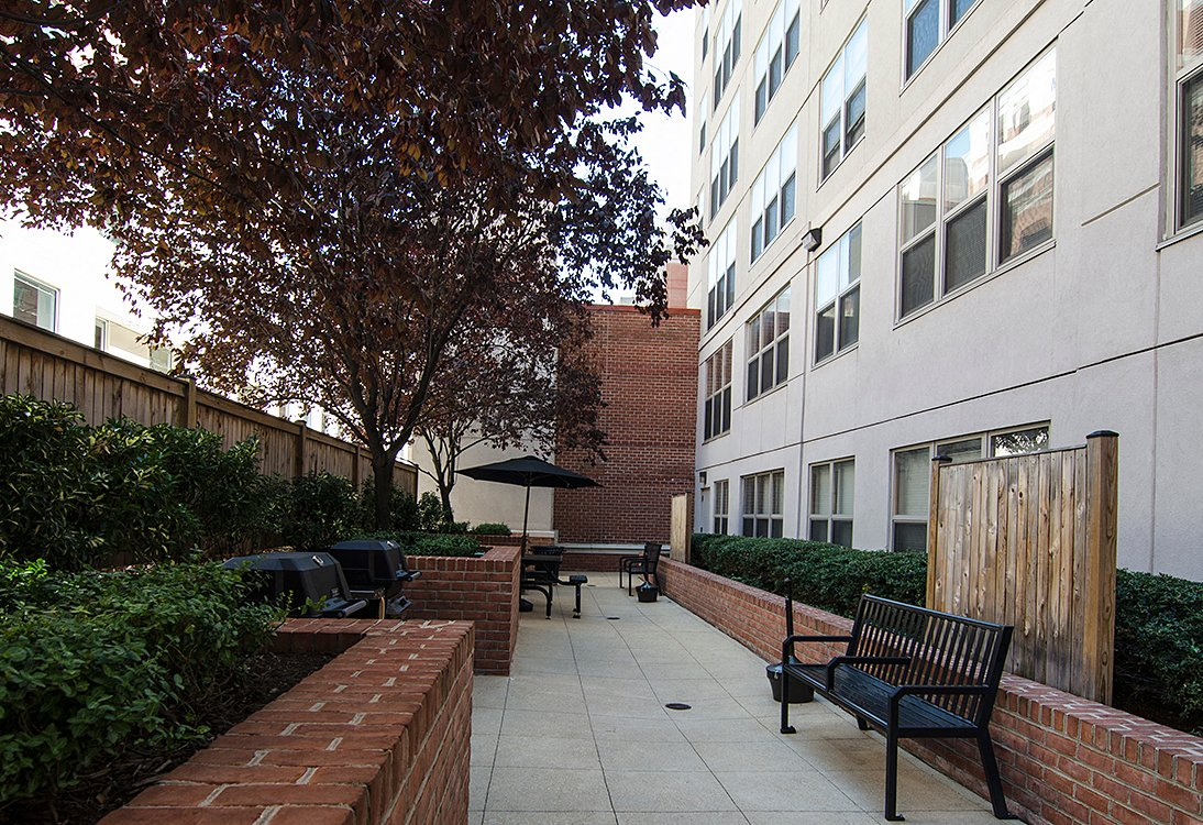 West End Residences apartments courtyard in West End, Washington DC