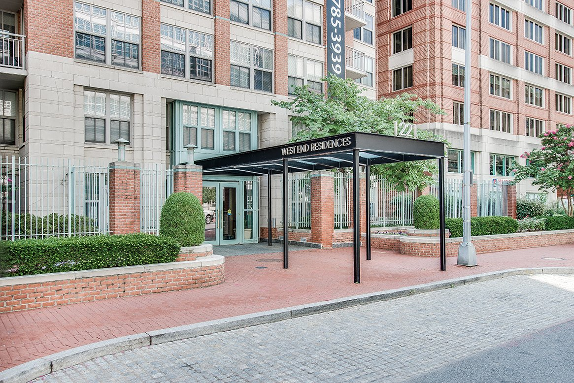 West End Residences apartments entrance in West End Washington DC