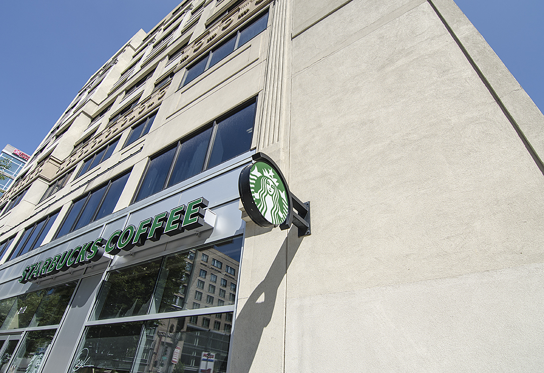 West End Residences apartments in West End, Washington DC neighborhood Starbucks