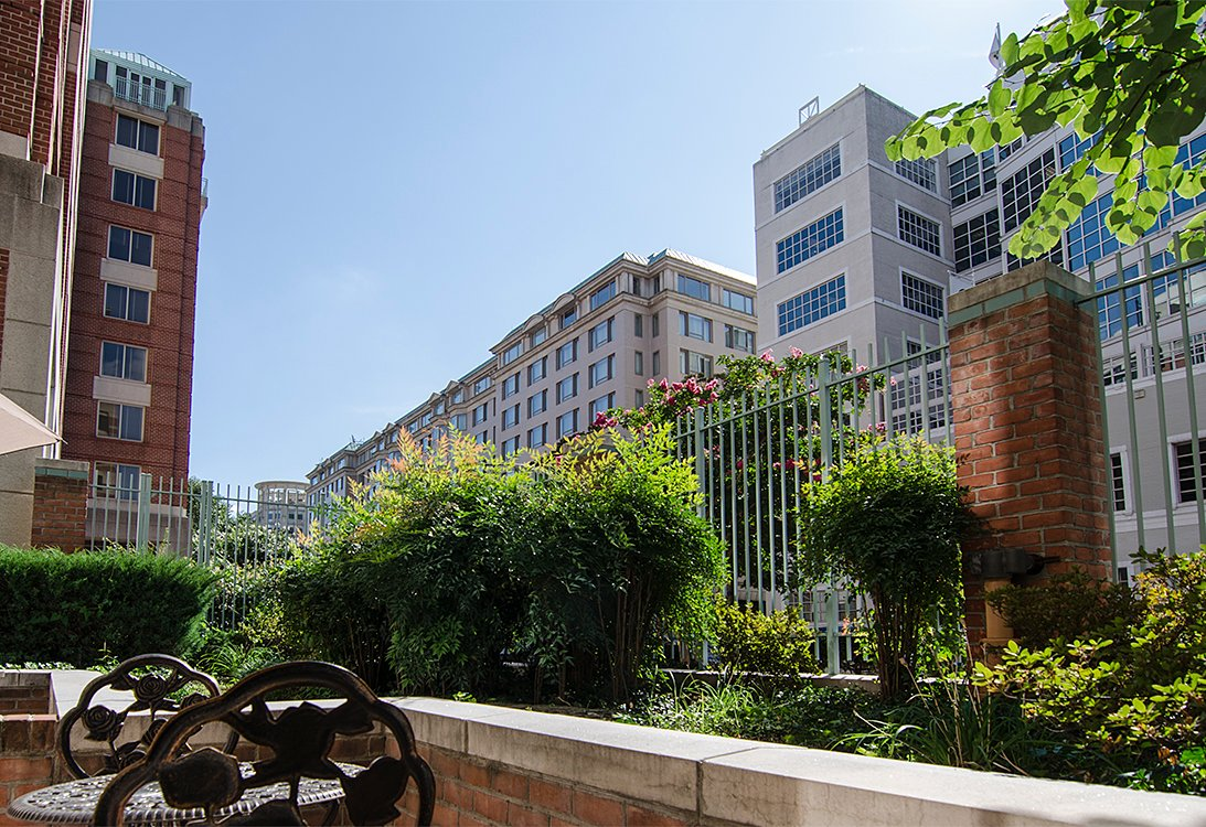West End Residences apartments one bedroom patio in West End, Washington DC