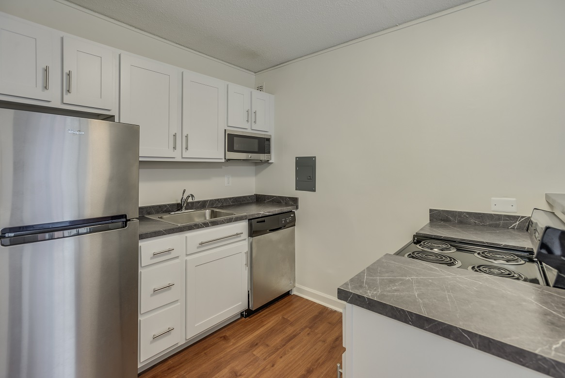 Palisades apartments renovated kitchen in Logan Circle, Washington DC