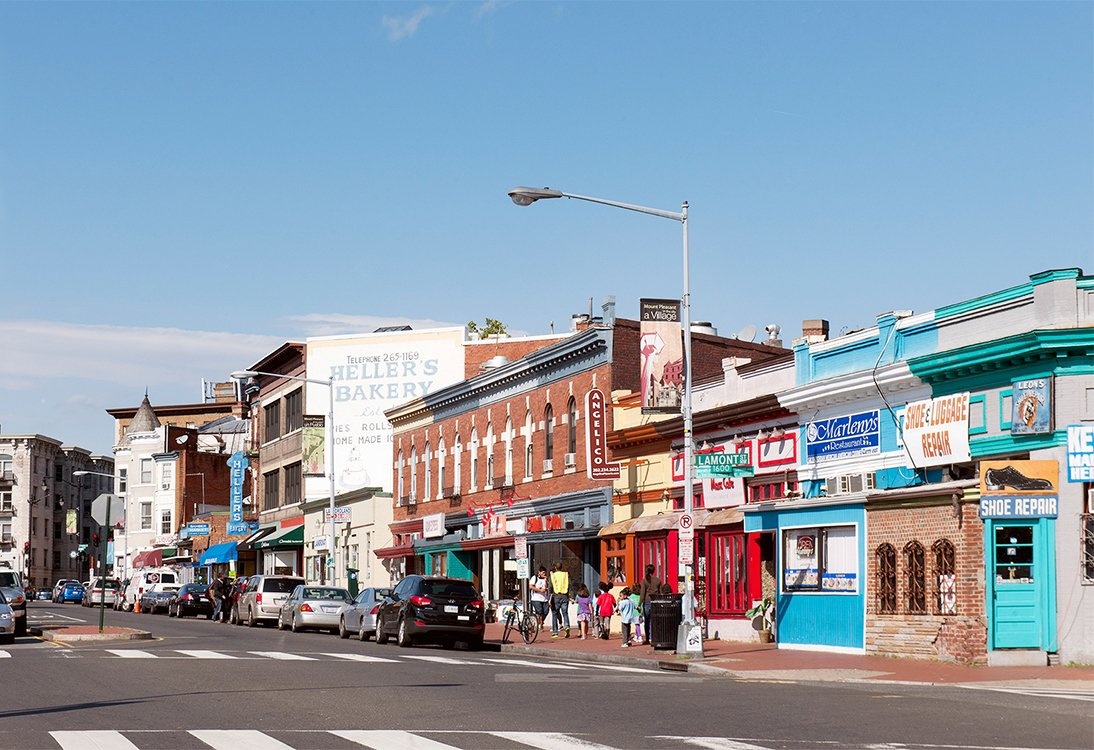1630 Park Apartments shopping and restaurants in Mount Pleasant, Washington DC