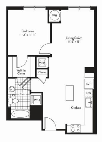 Md gaithersburg cadenceatcrown p0235305 1bedroomsencore 2 floorplan