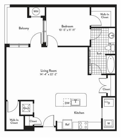 Md gaithersburg cadenceatcrown p0235305 1bedroomsmelody 2 floorplan