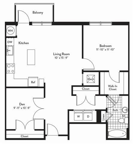 Md gaithersburg cadenceatcrown p0235305 1bedroomsmezzo 2 floorplan