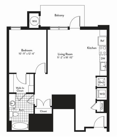 Md gaithersburg cadenceatcrown p0235305 1bedroomsnocturne 2 floorplan