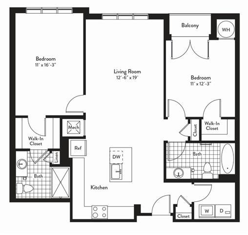 Md gaithersburg cadenceatcrown p0235305 2bedroomsoctave 2 floorplan