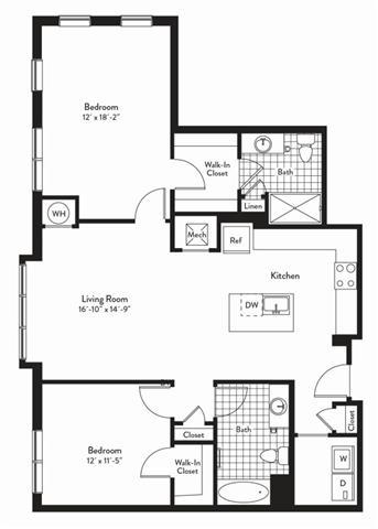 Md gaithersburg cadenceatcrown p0235305 2bedroomsresonance 2 floorplan