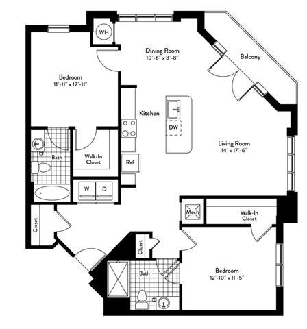 Md gaithersburg cadenceatcrown p0235305 2bedroomsrondo 2 floorplan