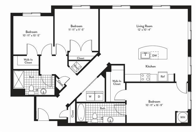 Md gaithersburg cadenceatcrown p0235305 3bedsonata 2 floorplan