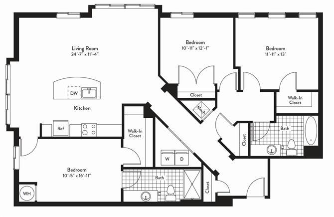 Md gaithersburg cadenceatcrown p0235305 3bedsoprano 2 floorplan