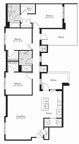 Md gaithersburg cadenceatcrown p0235305 3bedstaccato 2 floorplan