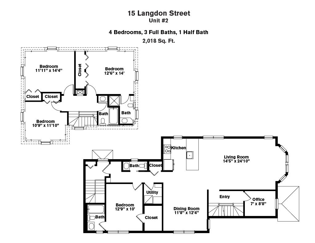 Click to view 15-17 Langdon Street - 4 Bedroom (Newly Renovated) floor plan gallery