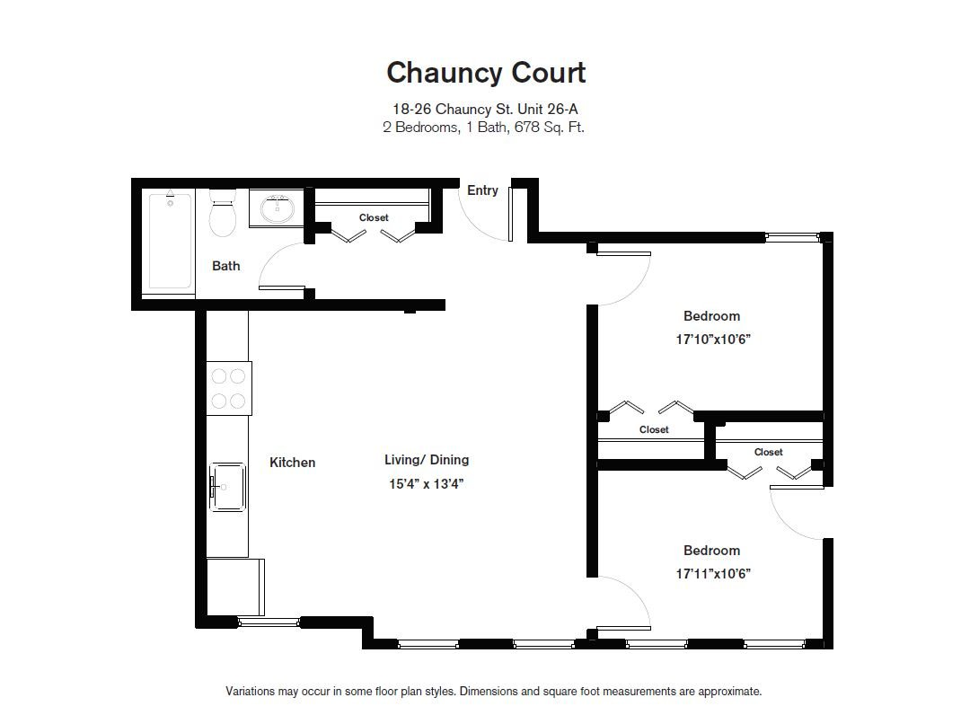 Floor plan Chauncy Court - 2 Bedroom (Newly Renovated) image 2