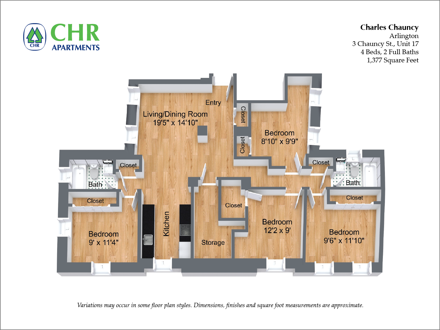 Click to view Charles Chauncy - 4 Bedroom (Newly Renovated) floor plan gallery