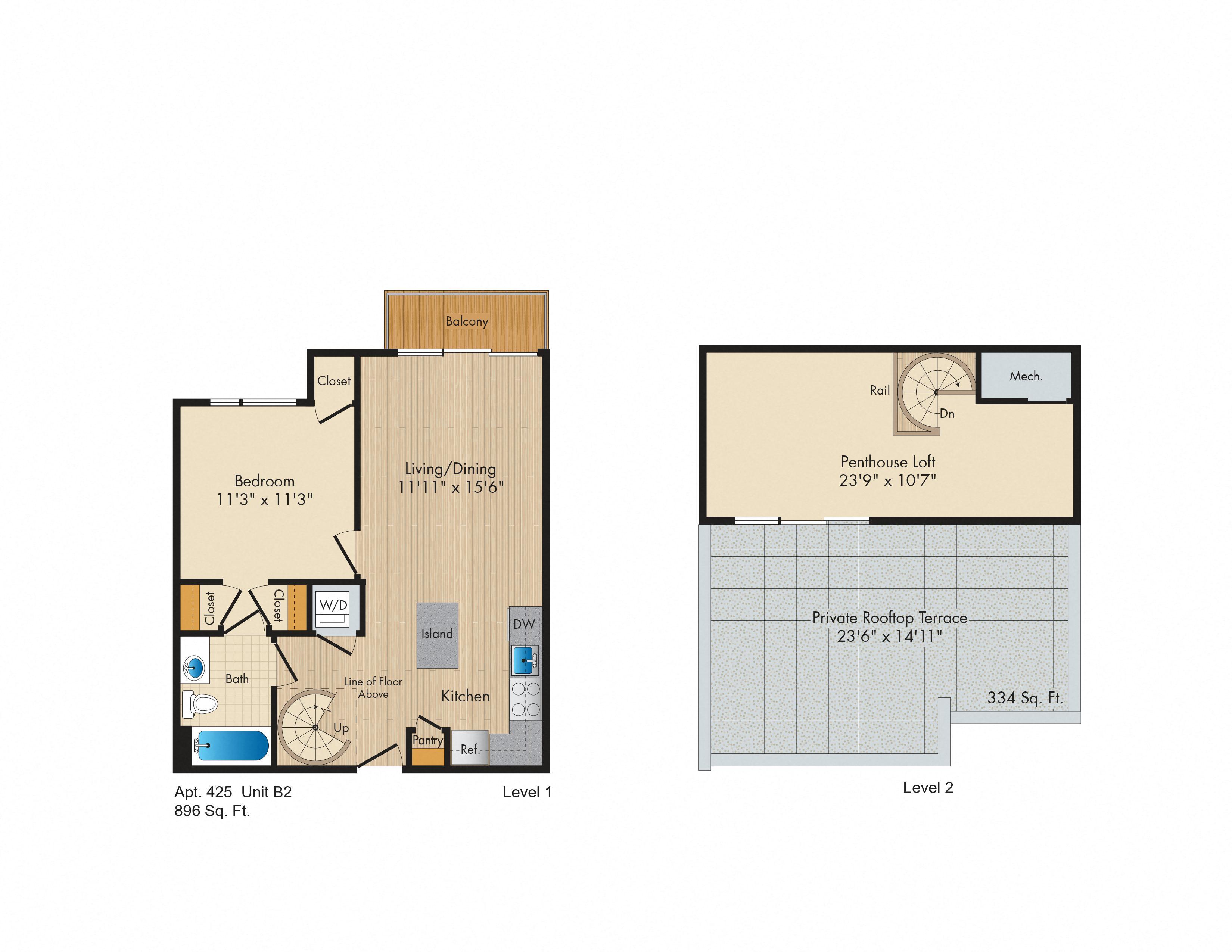 Apartment 435 floorplan