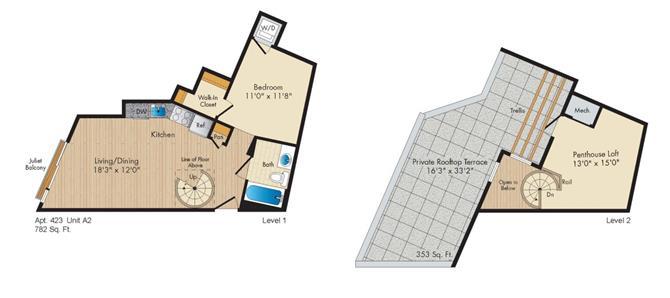Dc washington allegro p0238305 stylea2penthouse 2 floorplan