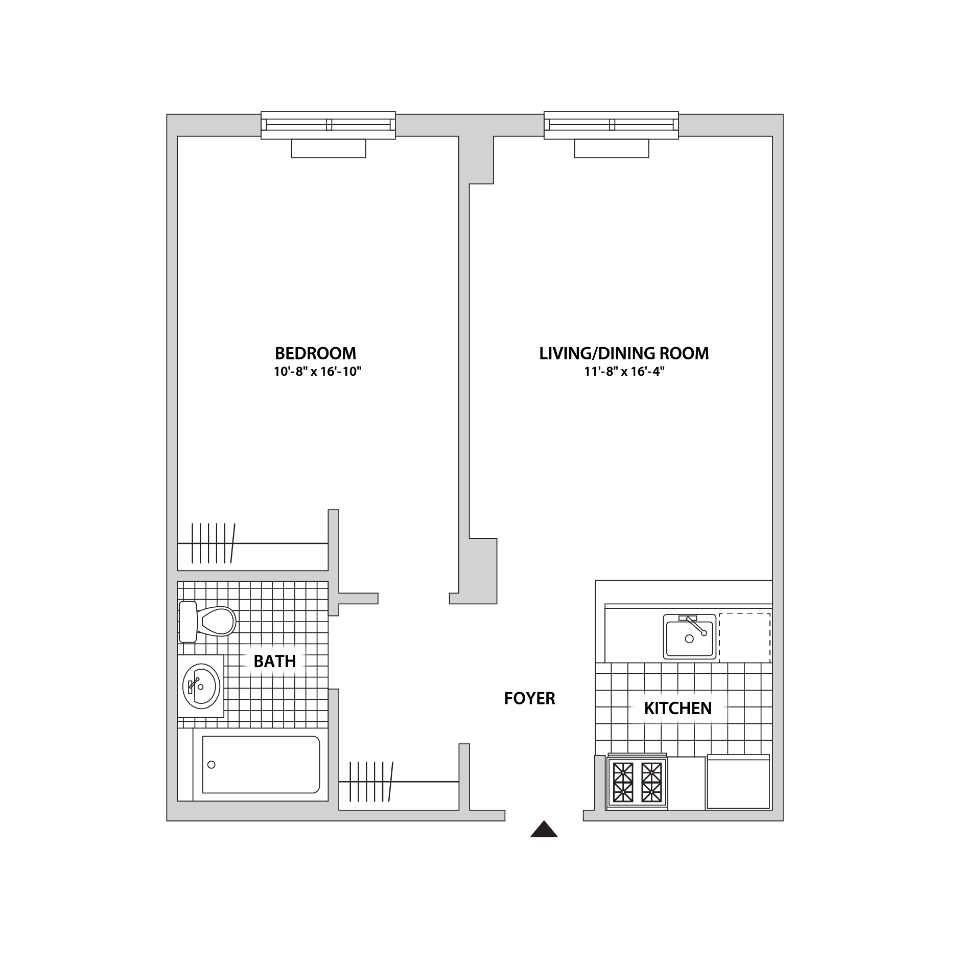 ... 3 231623 1732106Floor Plans Observer Park Apartments The Bozzuto Group  Bozzuto; 10 X 16 Kitchen Layout Design Decorating Classy Simple ... Part 40