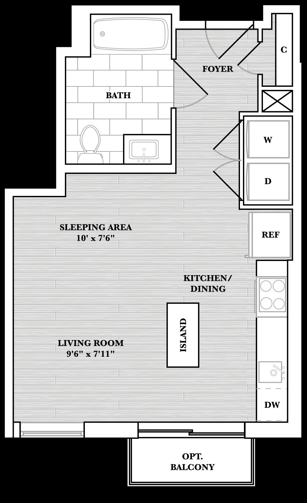 floorplan image of N408