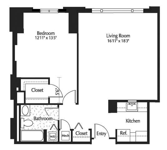 Dc washington thelexingtonatmarketsquare p0245090 1b1b805sf 2 floorplan