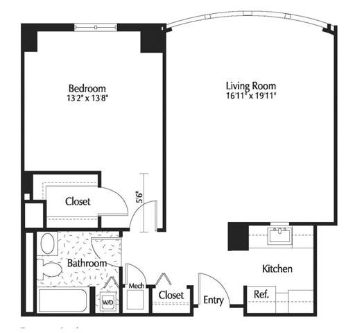 Dc washington thelexingtonatmarketsquare p0245090 1b1b831sf 2 floorplan