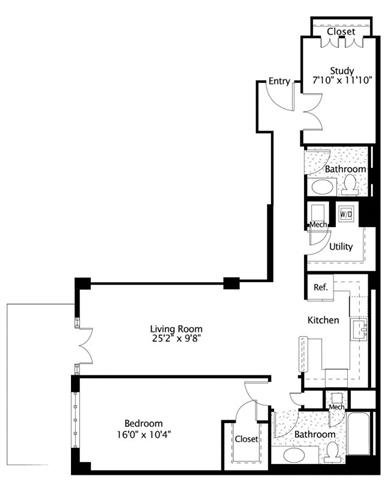 Dc washington thelexingtonatmarketsquare p0245090 1b1bden971sf 2 floorplan