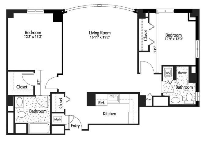 Dc washington thelexingtonatmarketsquare p0245090 2b2b1051sf 2 floorplan