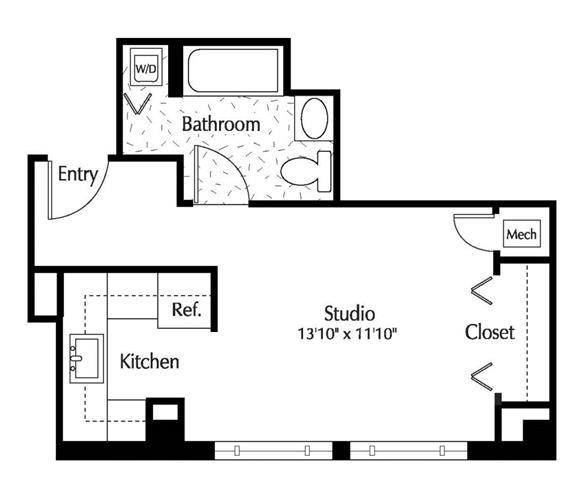 Dc washington thelexingtonatmarketsquare p0245090 studio401sf 2 floorplan