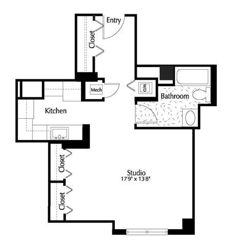 Dc washington thelexingtonatmarketsquare p0245090 studio530sf1945rent 2 floorplan
