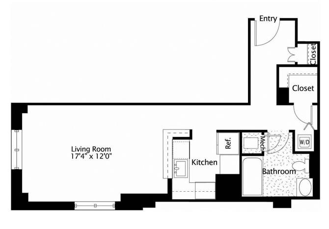 Dc washington thelexingtonatmarketsquare p0245090 studio541sf 2 floorplan