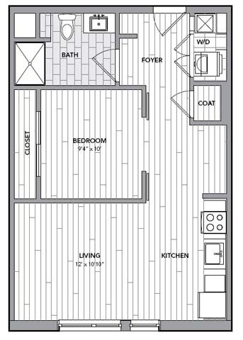 Floor plan for Unit S513