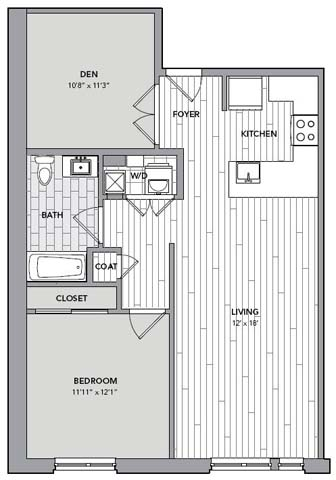 Floor plan for Unit N608