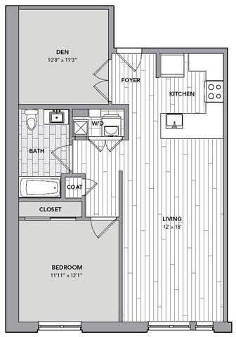 Floor plan for Unit N208