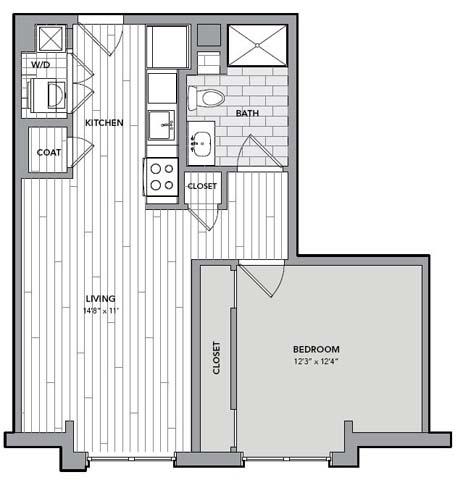 Floor plan for Unit S401