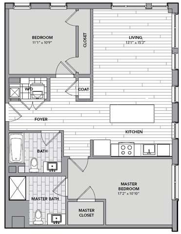 Floor plan for Unit S204