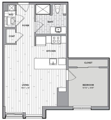 Floor plan for Unit N510