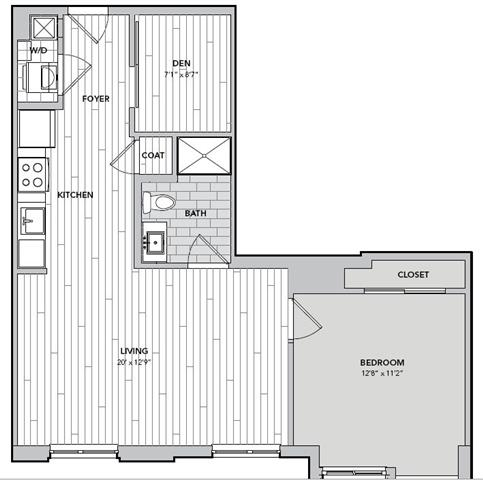 Floor plan for Unit N401