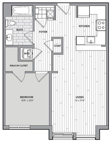 Floor plan for Unit S618