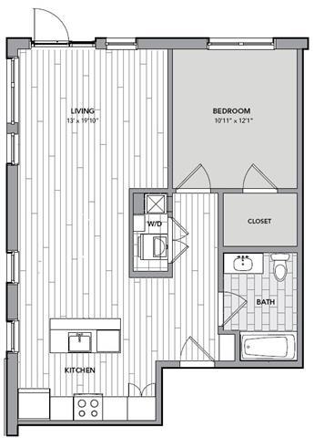 Floor plan for Unit S305