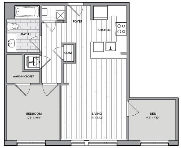 Floor plan for Unit S616