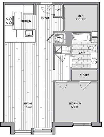 Floor plan for Unit N205