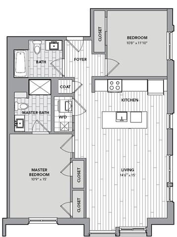 Floor plan for Unit N318