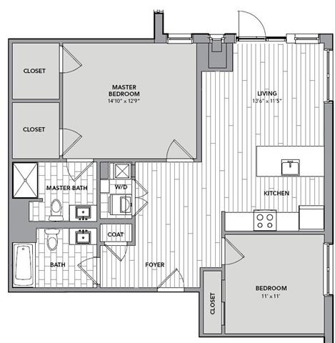 Floor plan for Unit S619
