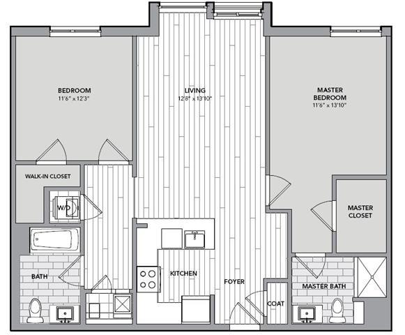 Floor plan for Unit N509