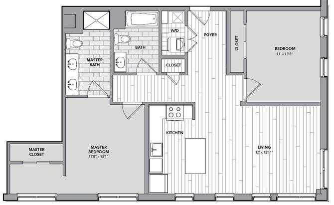Floor plan for Unit S420