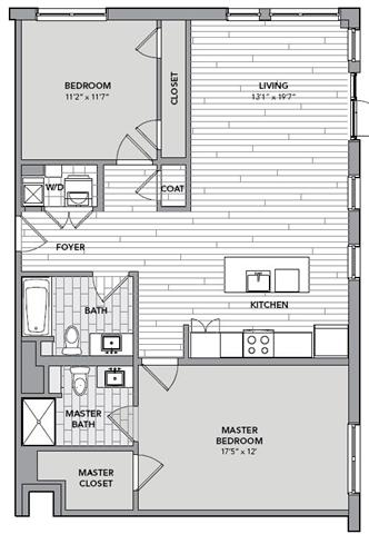 Floor plan for Unit S216