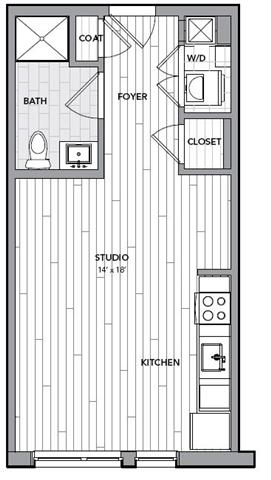 Floor plan for Unit S412