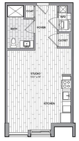 Floor plan for Unit S406